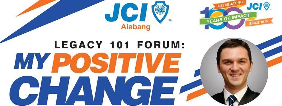 Legacy 101 Forum: My Positive Change with JCI World President Ismail Haznedar