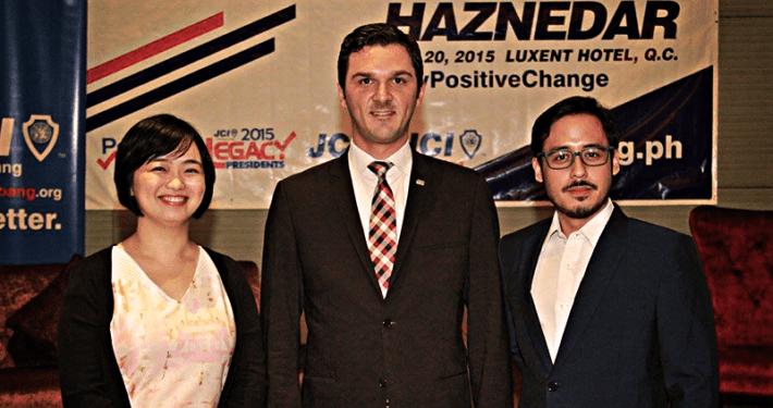 JCI Alabang 2015 and 2016 President with 2015 World President Ismail Haznedar