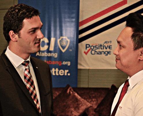 2016 Executive Vice President George Flordeliza with 2015 World President Ismail Haznedar