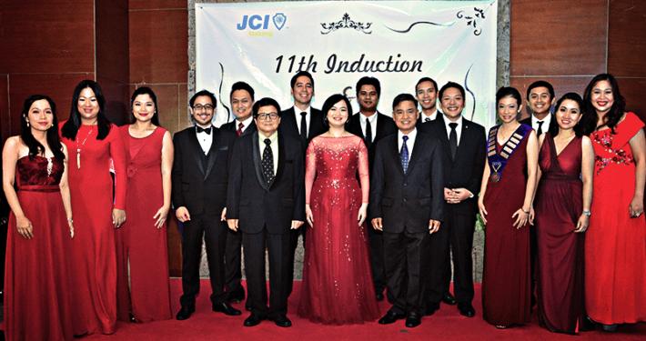 JCI Alabang Induction 2015 with Muntinlupa Mayor Jaime Fresnedi and Arch Jun Palafox
