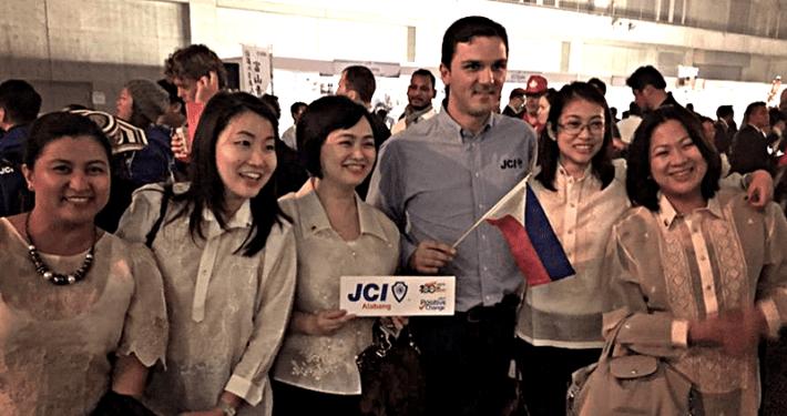 JCI Alabang members with 2015 JCI World President Ismail Haznedar in the 2015 JCI World Congress in Kanazawa, Japan