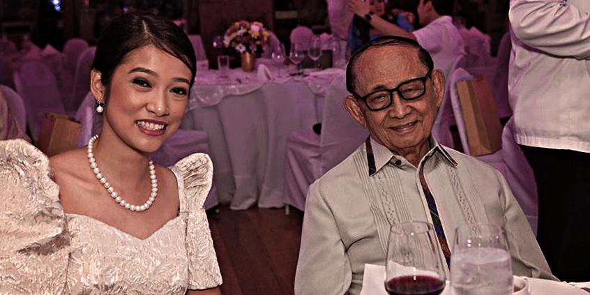JCI Alabang Induction 2014, Former President Fidel V Ramos with 2014 President Vicky Martinez